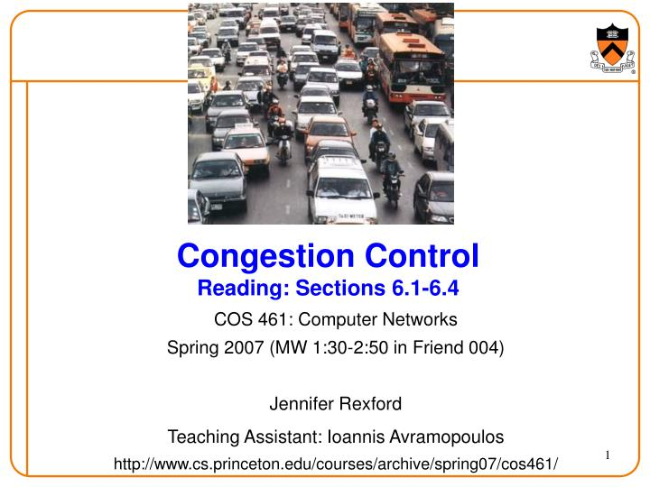 congestion control reading sections 6 1 6 4 n.