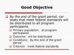 good objective1