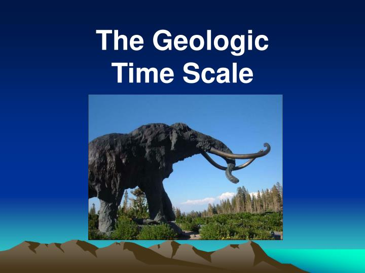 the geologic time scale n.
