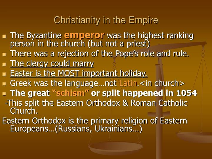 Christianity in the Empire