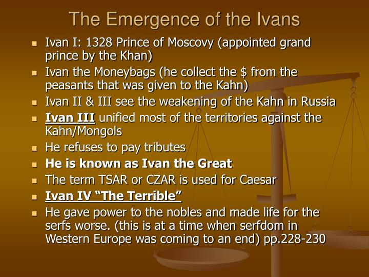 The Emergence of the Ivans