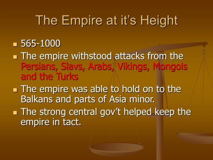 The Empire at it's Height