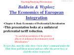 baldwin wyplosz the economics of european integration1