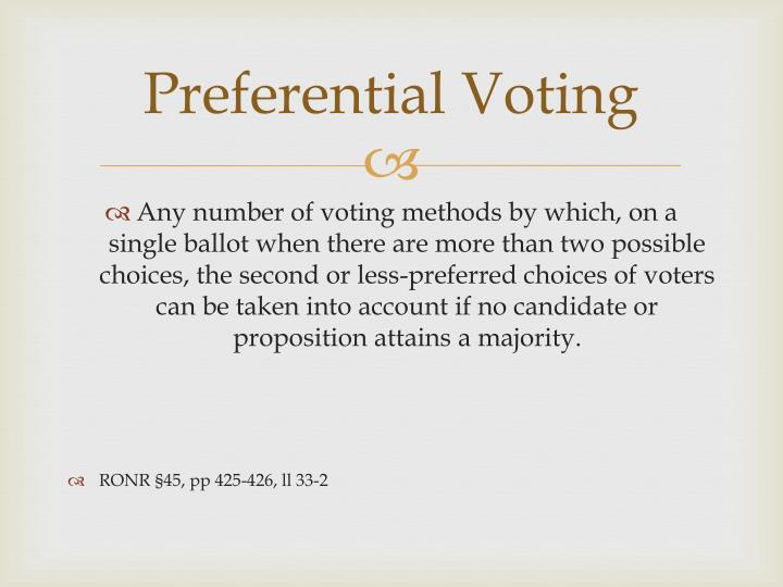 choice and voting preferences Preference voting systems and their impact on the personalisation of politics intraparty preference choice is.