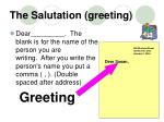 the salutation greeting