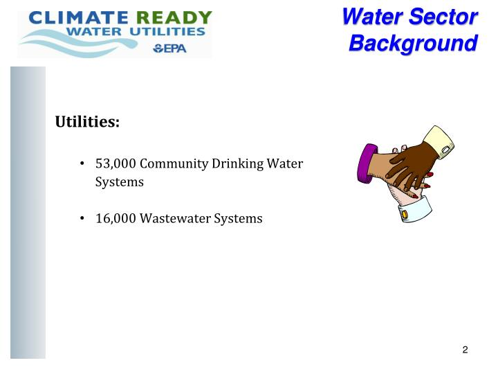 Water sector background