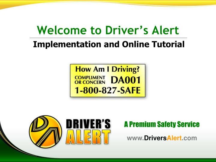 welcome to driver s alert n.