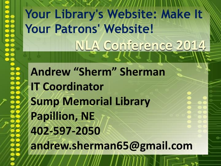 your library s website make it your patrons website n.