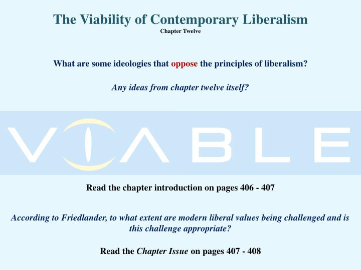 the viability of contemporary liberalism chapter twelve n.