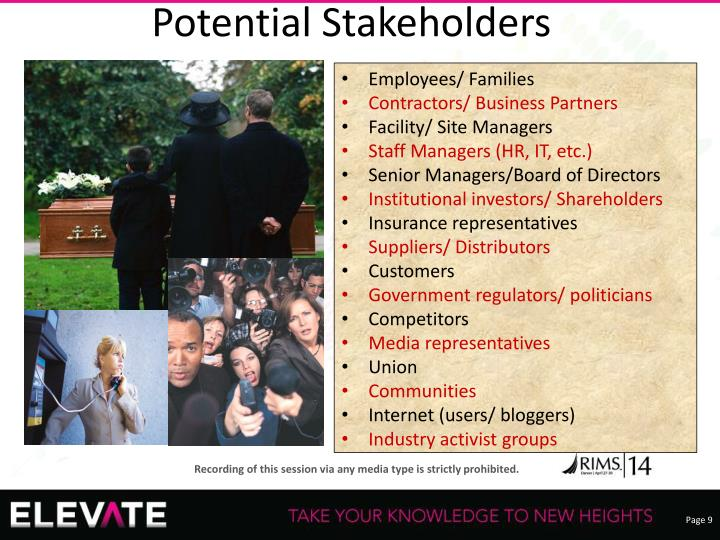 Potential Stakeholders