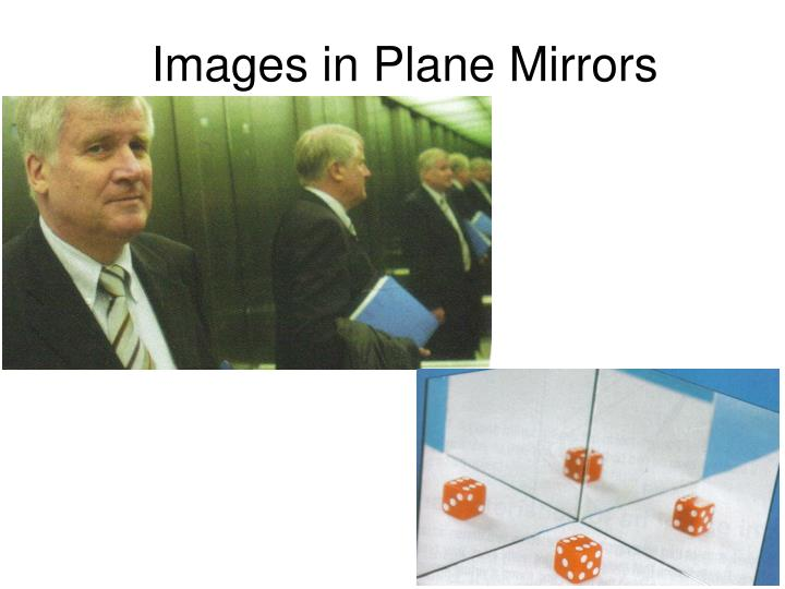 images in plane mirrors n.