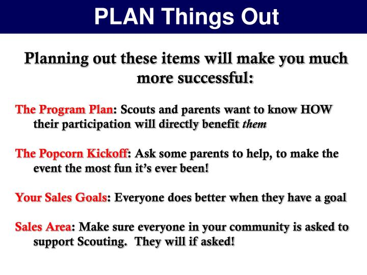 PLAN Things Out