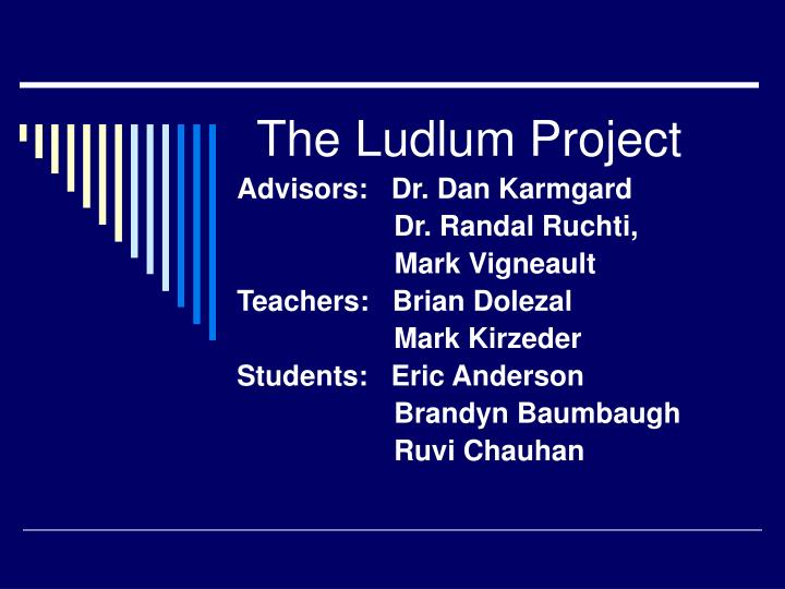 the ludlum project n.