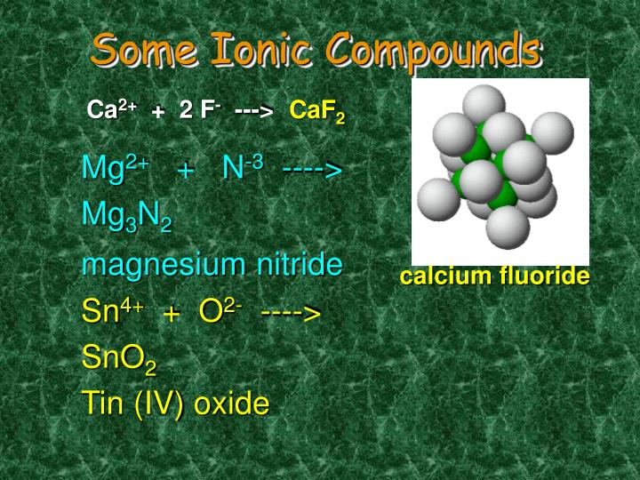 Some Ionic Compounds