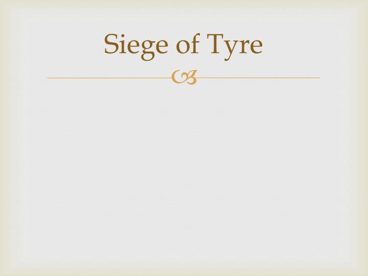 Siege of Tyre
