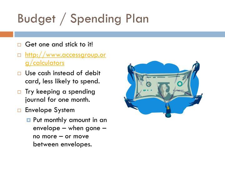 Budget spending plan