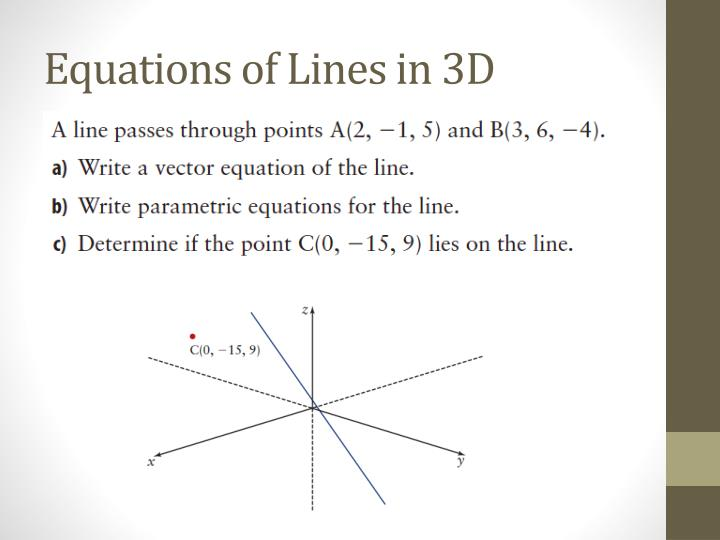 Drawing Lines From Equations : Equation of line in d space tessshebaylo