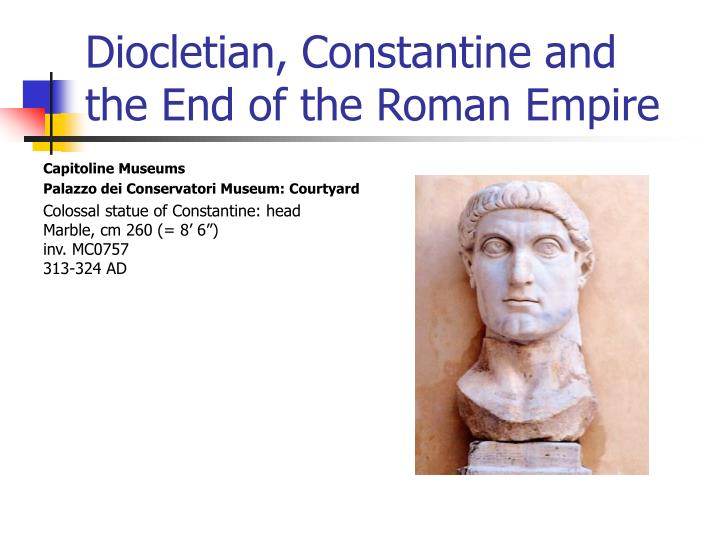diocletian constantine and the end of the roman empire n.