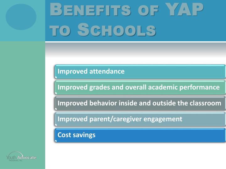 Benefits of YAP to Schools