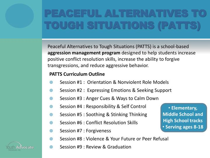 Peaceful Alternatives to Tough Situations (PATTS)