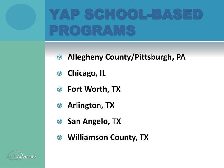 YAP School-Based Programs