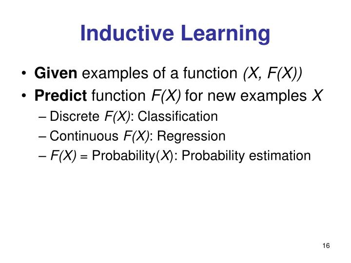 Inductive Learning
