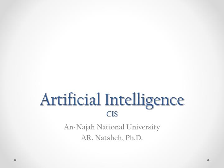artificial intelligence cis n.