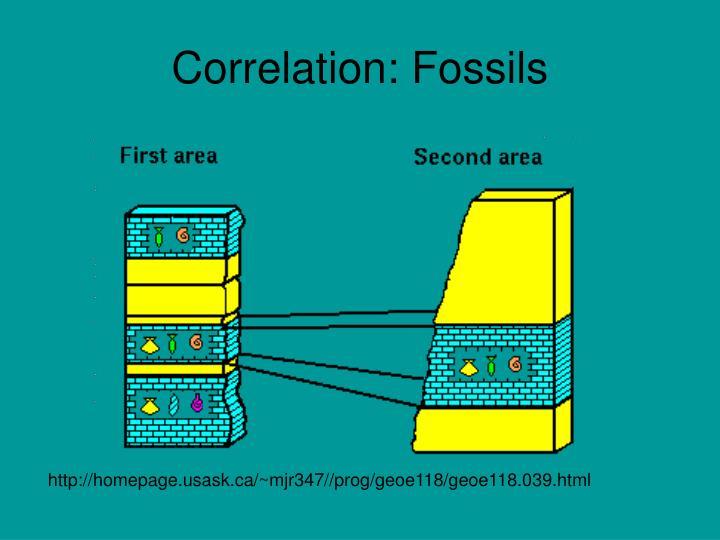 Correlation: Fossils