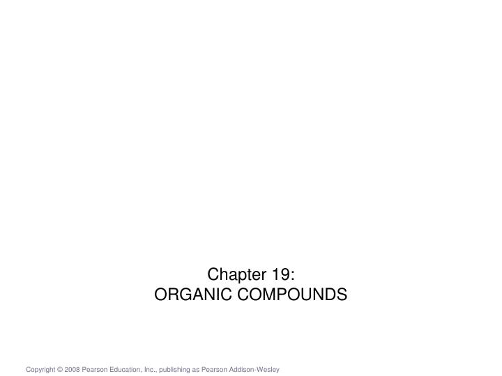 chapter 19 organic compounds n.