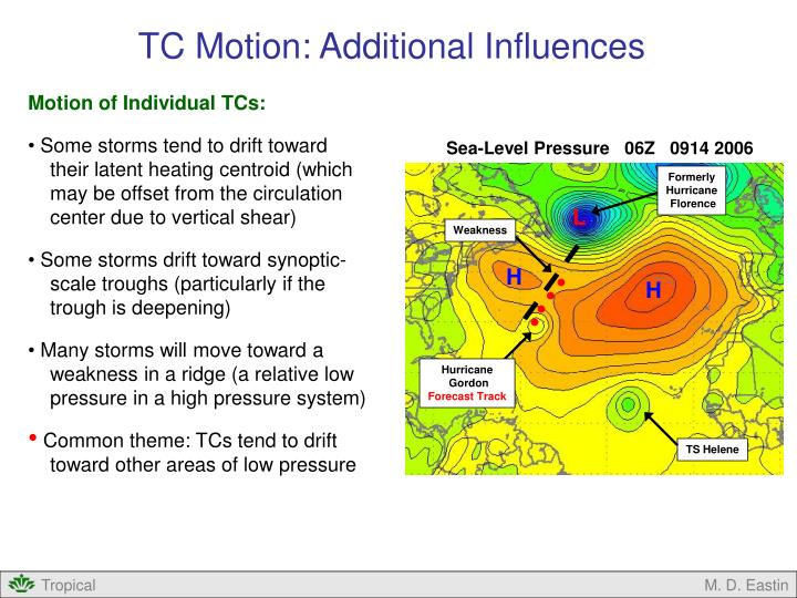 TC Motion: Additional Influences