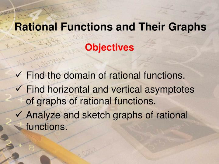 rational functions and their graphs n.