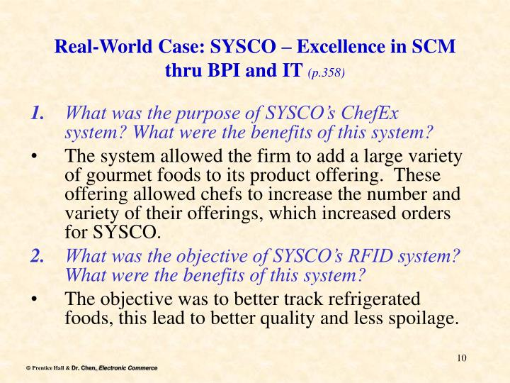 Real-World Case: SYSCO – Excellence in SCM thru BPI and IT