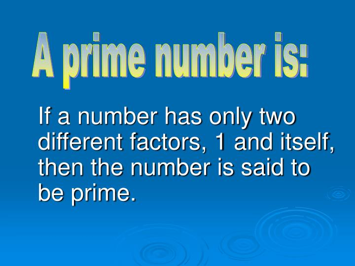 A prime number is: