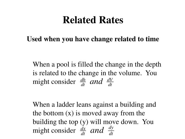 When a pool is filled the change in the depth is related to the change in the volume.  You might consider