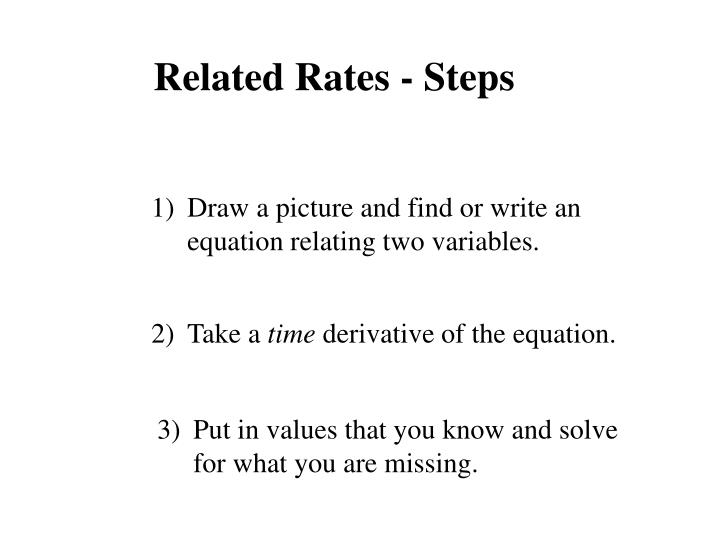 Related Rates - Steps