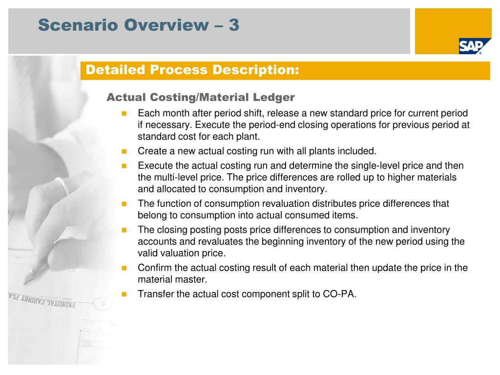 PPT - Actual Costing/Material Ledger: 392 SAP Best Practices