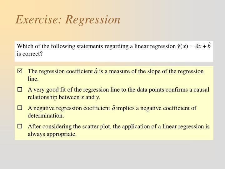 Exercise regression1