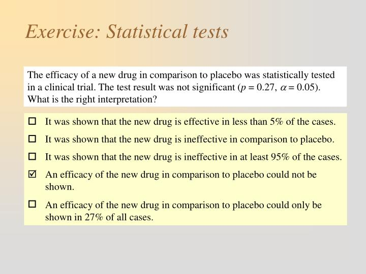 It was shown that the new drug is effective in less than 5% of the cases.