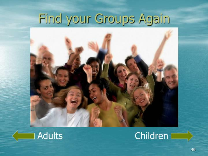 Find your Groups Again
