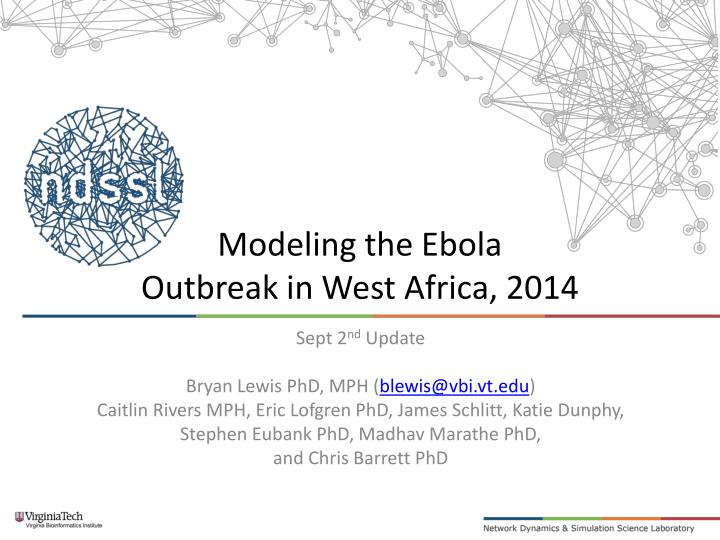 modeling the ebola outbreak in west africa 2014 n.