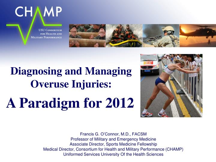 diagnosing and managing overuse injuries n.