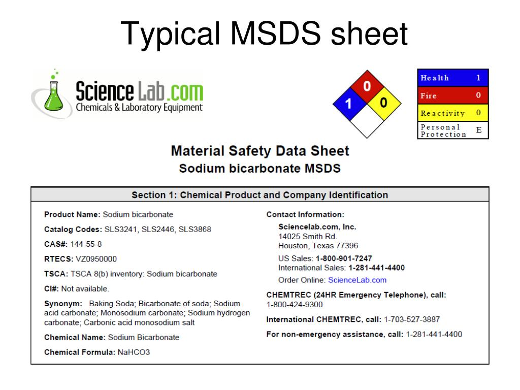 Ppt Msds Material Safety Data Sheets Powerpoint Presentation Free Download Id 5772784