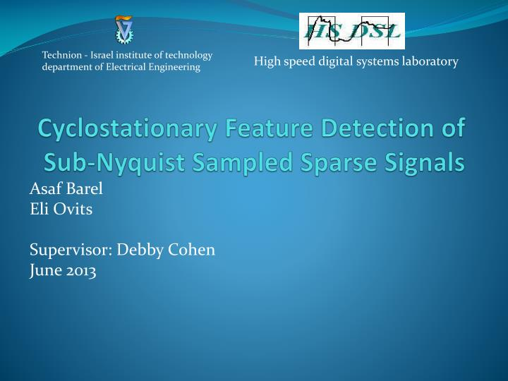 cyclostationary feature detection of sub nyquist sampled sparse signals n.