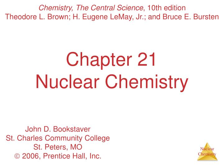 chapter 21 nuclear chemistry n.