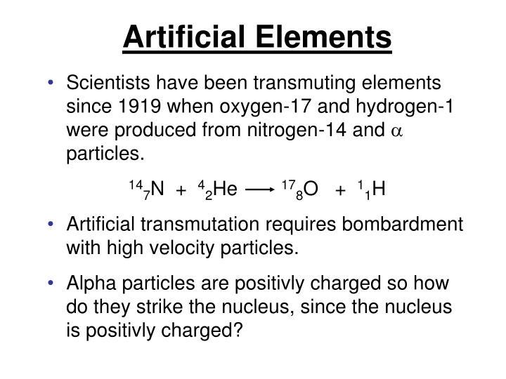 Artificial Elements