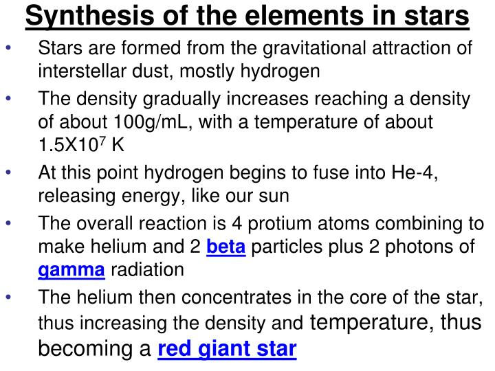 Synthesis of the elements in stars