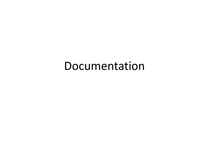 documentation n.