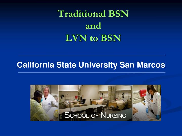 traditional bsn and lvn to bsn n.