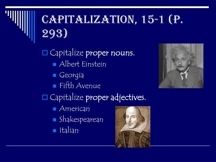 Capitalization 15 1 p 293