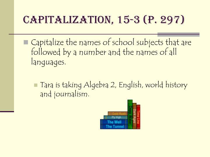 Capitalization, 15-3 (p. 297)
